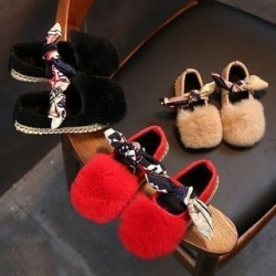 Kids Furry Flats