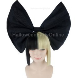 Party Wig - Sia Black & Blonde Wig Small Black Bow Black / Blonde - One Size