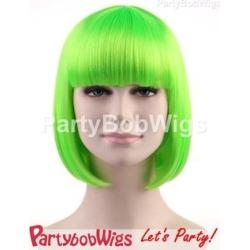 PartyBobWigs - Party Short Bob Wig - Green Green