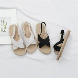 Cross-Strap Espadrille Sandals