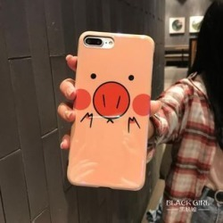 Pig-Print Phone Case For iPhone 6 / 6S / 6 Plus / 7 / 7 Plus / 8 / 8 Plus / X / XS / XR / XS Max found on Bargain Bro India from yes style for $6.56