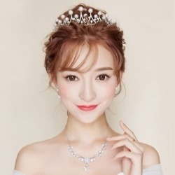 Faux Pearl Tiara   Necklace