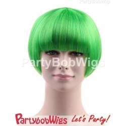 PartyBobWigs - Party Short Bob Wig - Green Green - One Size