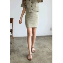 Linen Pencil Skirt found on Bargain Bro India from yes style for $20.94