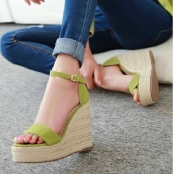 Espadrille Platform Wedge Sandals