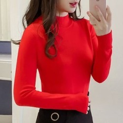 Long-Sleeve Mock-Neck Knit Top found on Bargain Bro India from yes style for $24.90