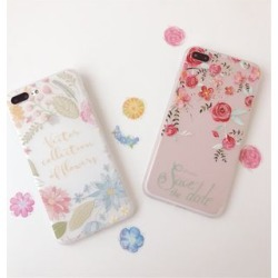 Floral Print Phone Case - Apple iPhone 6 / 6 Plus / 7 / 7 Plus / 8 / 8 Plus / X found on Bargain Bro India from yes style for $10.90