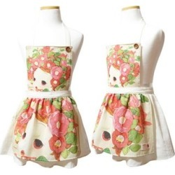 "Set: ""ddung"" Series Kids Apron + Pouch Ivory - One Size"