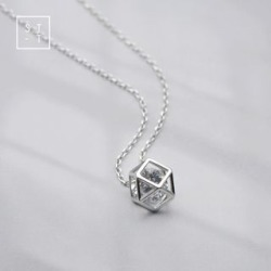 Pendant Necklace 925 Sterling Silver - Pendant Necklace - One Size found on MODAPINS from yes style for USD $17.01