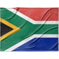 Canvas on Demand Fleece Blanket 40 x 30 entitled South Africa Flag