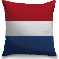 Canvas on Demand Indoor Burlap Throw Pillow 16 x 16 entitled Netherlands Flag