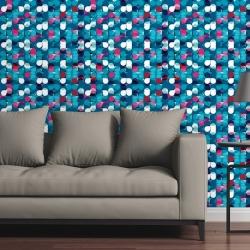 Canvas on Demand Removable Wallpaper Tile 24 x 48 entitled Optical Dots