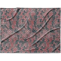 Canvas on Demand Fleece Blanket 40 x 30 entitled Geometric Flowers