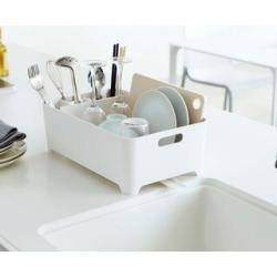Tower White/ Black Plastic Dish Drainer Rack by Yamazaki Home