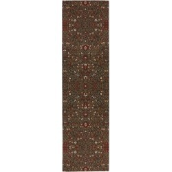 "Mohawk Home Symphony Western Prairie Rug (2'1 x 7'10) - 2'1"" x 7'10"" Green/Red/Brown"