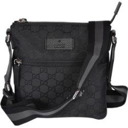 Gucci 449183 Black Nylon MINI GG Guccissima Web Trim Crossbody Messenger Bag found on Bargain Bro from  for $720