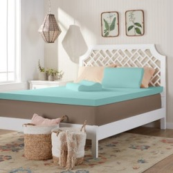 Comfort Dreams 3-inch Memory Foam Mattress Topper with Two Bonus Contour Pillows found on Bargain Bro from  for $36.49