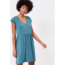 Loft Sandwashed V-Neck Swing Dress found on MODAPINS from loft.com for USD $69.50