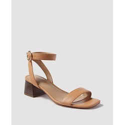 Ann Taylor Celeste Cross Strap Leather Block Heel Sandals found on Bargain Bro India from anntaylor.com for $138.00