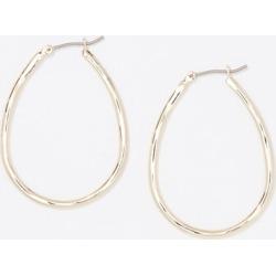 Loft Pressed Metallic Hoop Earrings found on Bargain Bro from loft.com for USD $22.42