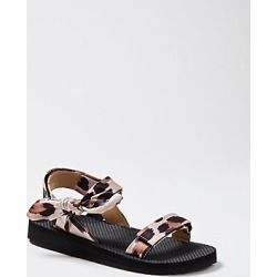 Ann Taylor Hailey Brushed Leopard Print Sandals found on Bargain Bro India from anntaylor.com for $98.00