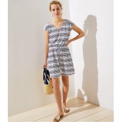 LOFT Beach Drawstring Dress found on MODAPINS from loft.com for USD $79.50