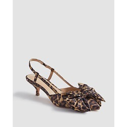 Ann Taylor Claudette Leopard Print Bow Slingback Pumps found on Bargain Bro India from anntaylor.com for $59.88