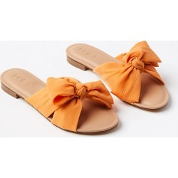 Loft Pleated Bow Slide Sandals found on Bargain Bro Philippines from loft.com for $59.50