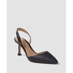 Ann Taylor Marta Woven Slingback Pumps found on Bargain Bro India from anntaylor.com for $138.00
