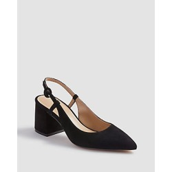 Ann Taylor Esme Suede Block Heel Slingback Pumps found on Bargain Bro India from anntaylor.com for $59.88