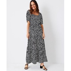 Ann Taylor Petite Animal Print Puff Sleeve Belted Maxi Dress found on Bargain Bro India from anntaylor.com for $89.88