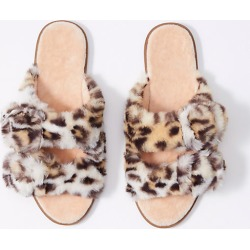 Loft Faux Fur Buckle Slippers found on Bargain Bro Philippines from loft.com for $39.50