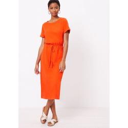 Loft Drawstring Midi Tee Dress found on Bargain Bro from loft.com for USD $52.82