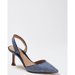 Ann Taylor Marta Woven Leather Slingback Pumps found on Bargain Bro India from anntaylor.com for $138.00