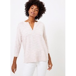 Loft Flecked Split Neck Tunic Sweater found on Bargain Bro India from loft.com for $54.50