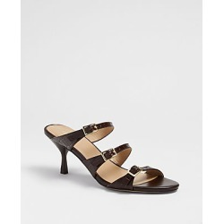 Ann Taylor Milaena Embossed Leather Strappy Buckle Mules found on Bargain Bro India from anntaylor.com for $138.00
