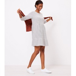 Loft Striped Tiered Swing Dress found on MODAPINS from loft.com for USD $69.50