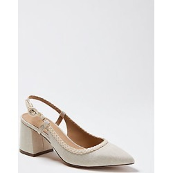 Ann Taylor Esme Braided Canvas Block Heel Slingback Pumps found on Bargain Bro India from anntaylor.com for $128.00