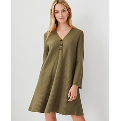 Ann Taylor Petite Henley Sweater Dress found on Bargain Bro India from anntaylor.com for $39.88
