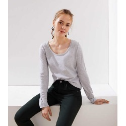Long Sleeve Shirttail Tee | LOFT found on Bargain Bro from  for $6.88