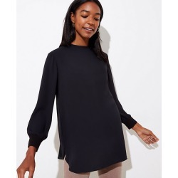 LOFT Maternity Mock Neck Button Back Top