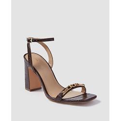 Ann Taylor Yasmine Crocodile Print Leather Chain High Heel Sandals found on Bargain Bro India from anntaylor.com for $99.88