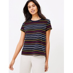 Loft Striped New Crew Tee found on Bargain Bro India from loft.com for $24.99