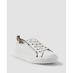 Ann Taylor Natalia Snake Print Trim Leather Sneakers found on Bargain Bro India from anntaylor.com for $69.88