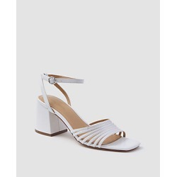 Ann Taylor Estelle Leather Strappy Block Heel Sandals found on Bargain Bro India from anntaylor.com for $138.00