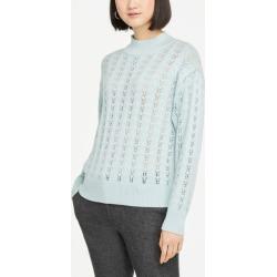 Ann Taylor Pointelle Mock Neck Sweater