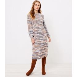 Loft Petite Spacedye Midi Sweater Dress found on Bargain Bro from loft.com for USD $18.91