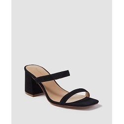 Ann Taylor Fiona Suede Two-Strap Block Heel Sandals found on Bargain Bro India from anntaylor.com for $138.00