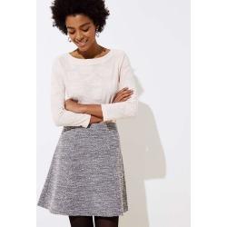 Textured Knit Flippy Skirt | LOFT found on Bargain Bro from  for $19.88