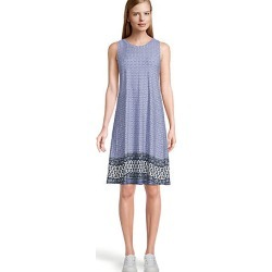Loft Border Floral Swing Dress found on MODAPINS from LOFT Outlet for USD $38.99